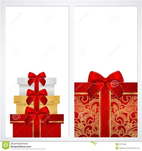 voucher gift certificate coupon template box stock