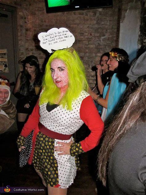 roy lichtenstein pop art classic comic girl halloween