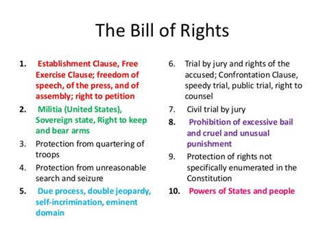 Bill Of Rights Section 8 Explanation by Bill Of Rights
