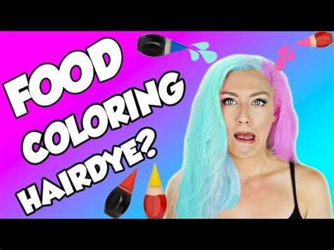 food color hair dye hack or wack diy hair dye with food coloring diy