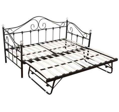 metal trundle bed frame single metal daybed guest day bed frame sleeper with