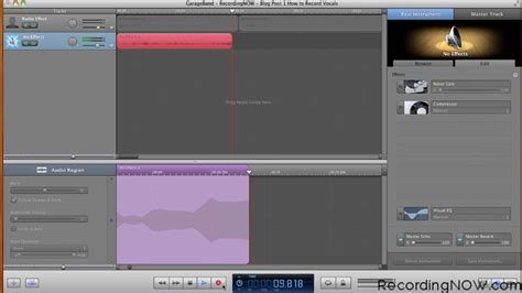 Garageband Recording Vocals How To Record Vocals In 3 Easy Steps Tutorial