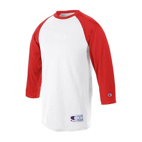 T Shirt 3 4 chion raglan baseball t shirt 3 4 sleeve jersey t137 ebay