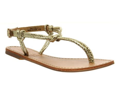 Demure But Gold Strappy Sandals From Accessorize by Womens Office Orla Tubular Strappy Sandals Gold Snake