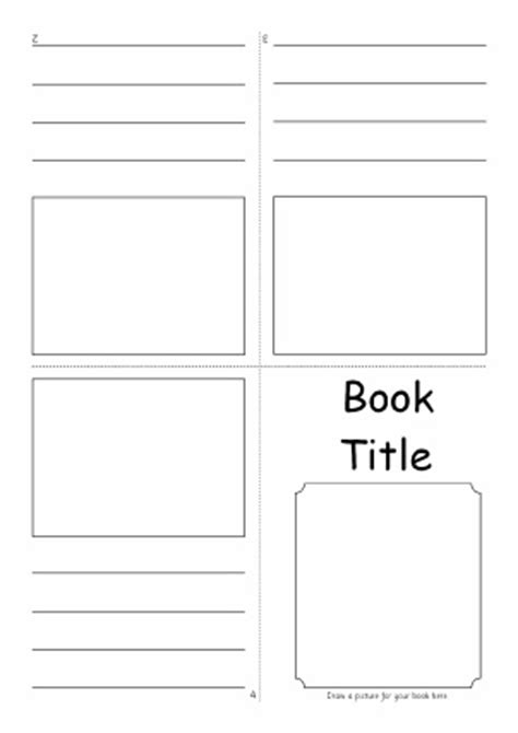 Mini Book Template For Kids Www Pixshark Com Images Galleries With A Bite Book Writing Template