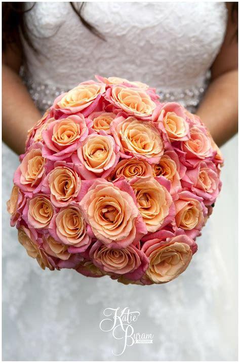 Miss Orange Pink coral pink orange miss piggy large bridal bouquet wedding flowers flowers