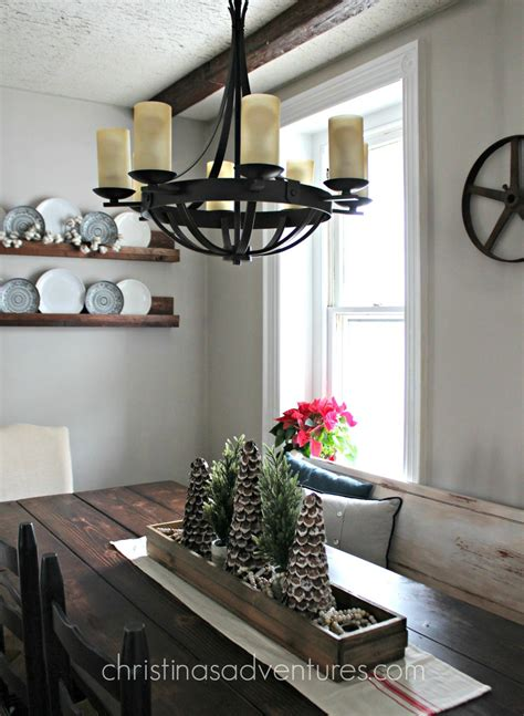 chandelier over table farmhouse kitchen chandelier christinas adventures