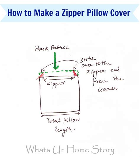 How To Install A Zipper In A Pillow by Diy Zipper Pillow Cover Whats Ur Home Story