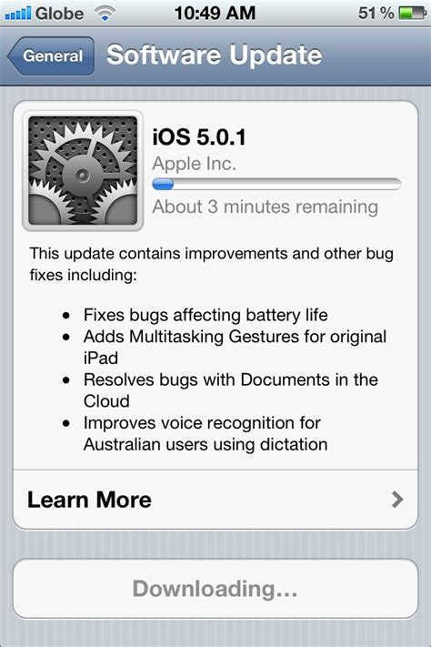 update the ios software on your iphone ipad and ipod touch how to update to ios 5 0 1 on your ipad iphone and ipod