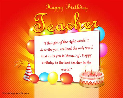 Happy Birthday Greeting Cards For Teachers Birthday Wishes For Teacher Wordings And Messages