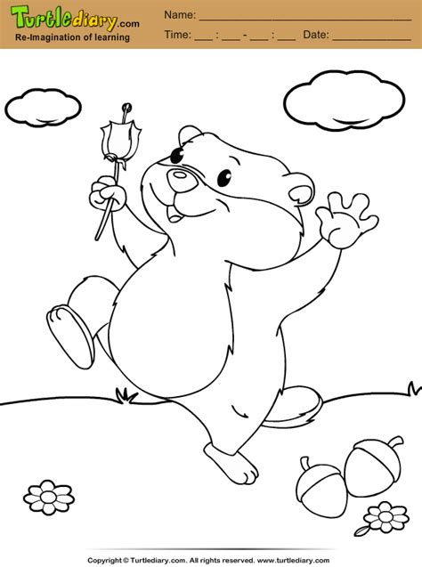 groundhog coloring pages groundhogs free coloring pages