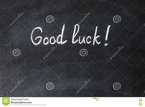 testo buona fortuna buona fortuna testo scritto fotografia stock immagine