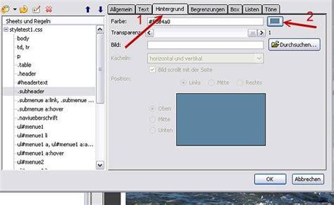 tutorial css kompozer tutorial bearbeiten der css angaben