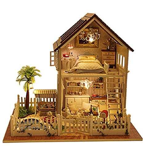 doll house parts rylai wooden handmade dollhouse miniature diy kit paris apartment wooden