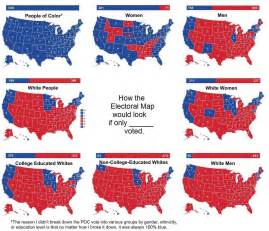 Election Map by 2016 Us Presidential Electoral Map If Only X Voted