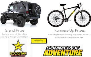 Mountain Bike Sweepstakes 2017 - enter to win a rockstar mountain bike 100 winners grand prize jeep wrangler