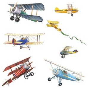 Airplane Decor For Office Vintage Planes Wall Stickers 22pc Airplane Decals