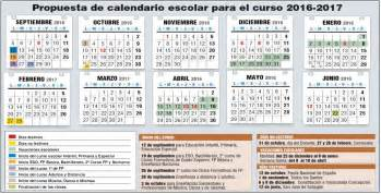 Calendario Escolar Madrid Capital 2017 Borrador Calendario Escolar 2016 2017 Stecyl I