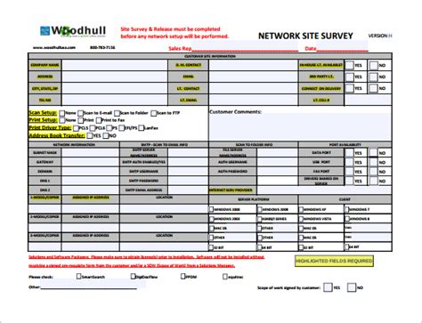 sle site survey template 8 free documents in word pdf