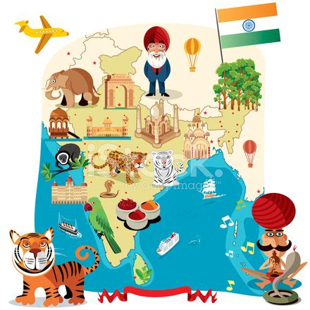 cartoon map of india stock vector freeimages.com