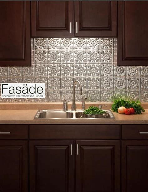 easy backsplash kitchen quot fasade quot backsplash and easy to install great for a new look for renters who