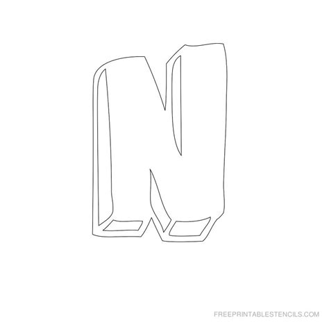 printable bubble letters stencils pics for gt n in bubble letters