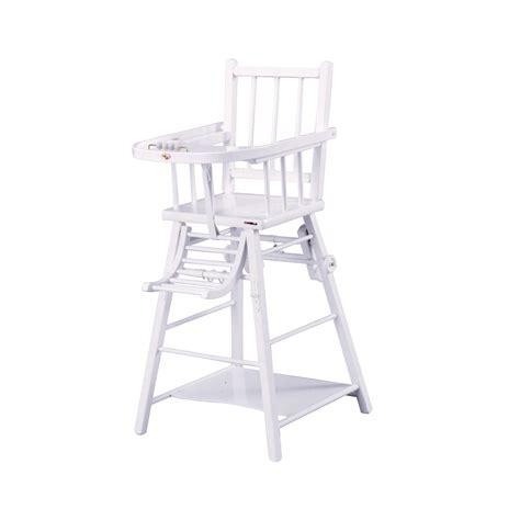 chaise haute transformable laqu 233 blanc combelle pour