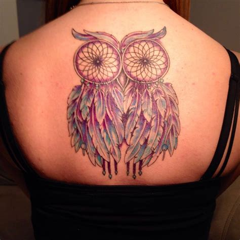 owl dreamcatcher tattoo best 25 owl dreamcatcher ideas on