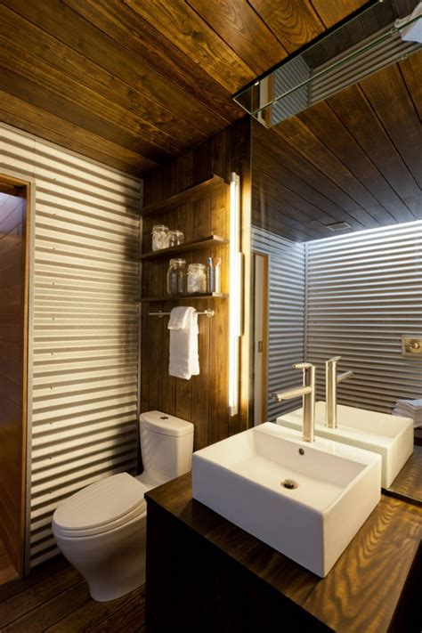 corrugated metal bathroom walls corrugated metal in the home