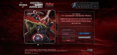 Doritos Sweepstakes 2015 - doritos assemble the avengers promotion enter your bag codes at avengers doritos com