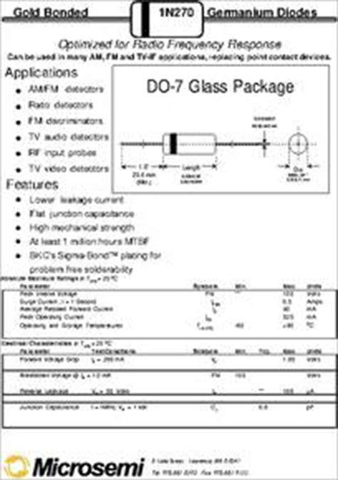 datasheet germanium diode package