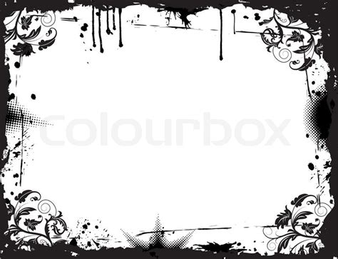 grunge frame vector stock vector illustration of drawings card 3736909 abstract grunge floral frame element for design vector illustration stock vector colourbox