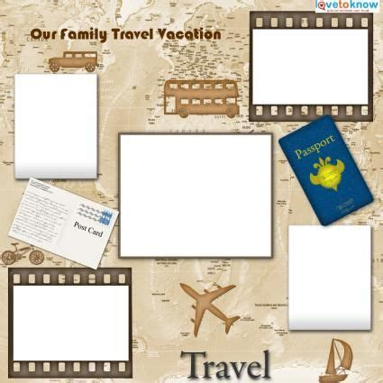 travel lovetoknow travel templates for scrapbooking travel scrapbook
