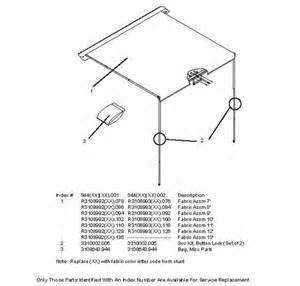 Dometic Awning Replacement Instructions Laurelhurst Distributors Parts Breakdown Awnings