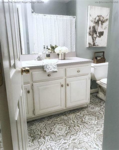 Painted Tile Floor Stencils for Painting   16 DIY Ideas