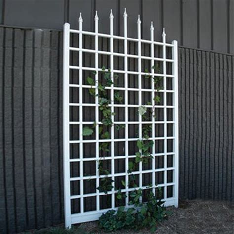 Trellis Home Shop Dura Trel 57 In W X 96 In H White Garden Trellis At