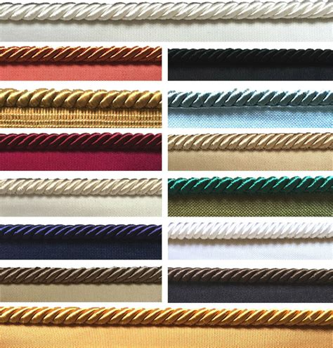 Upholstery Trim Cord - 8mm flanged piping cord rope upholstery cushions