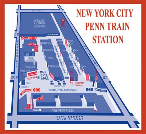 Penn Station Interior Map by New York Penn Station Map Swimnova