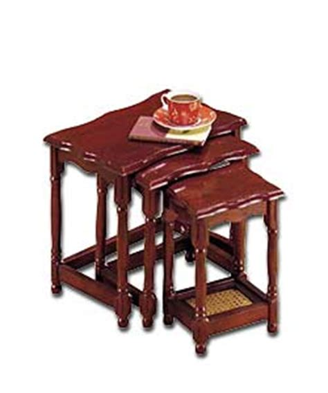 Hennessey Mahogany Effect Nest of Tables Coffee Table   review, compare prices, buy online