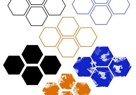 pattern psd brush regular distressed hexagon brushes free photoshop