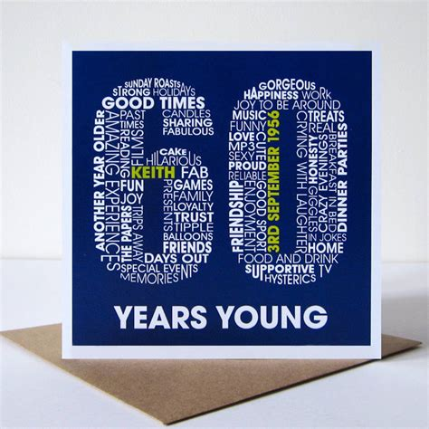 card for personalised 60th birthday card by mrs l cards