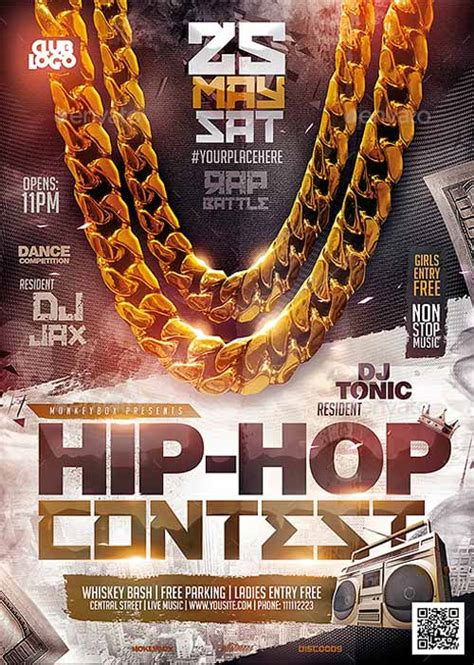 template flyer hip hop ffflyer download the hip hop contest flyer template
