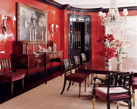 red dining room walls using red in interior design archives the colorful