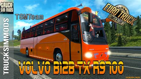 download game euro truck mod bus volvo b12b tx r9700 passenger mod v1 0 for ets 2