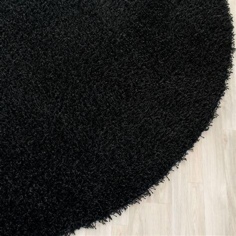 Black Shag Area Rugs Shag Shag 5 Black Area Rug Modern Rugs By Rugpal