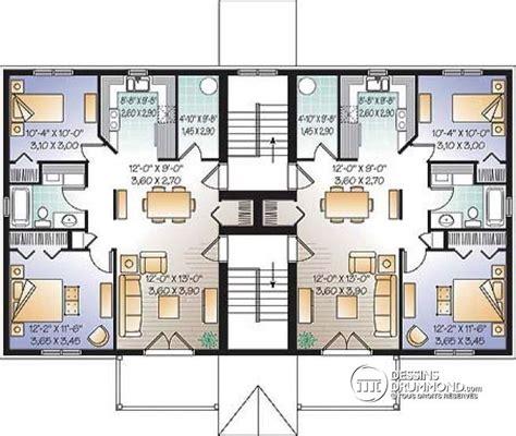Apartments For Rent With Floor Plans d 233 tail du plan de maison multi logements w3036
