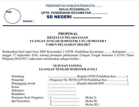 format proposal indonesia contoh proposal uts dengan jadwal dan anggaran biaya tahun