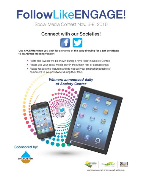 Social Media Giveaway - annual meeting social media contest asa cssa sssa international annual meetings
