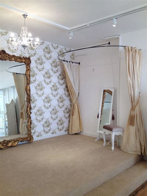 fitting room curtain rod idea for the fitting room style dressing room