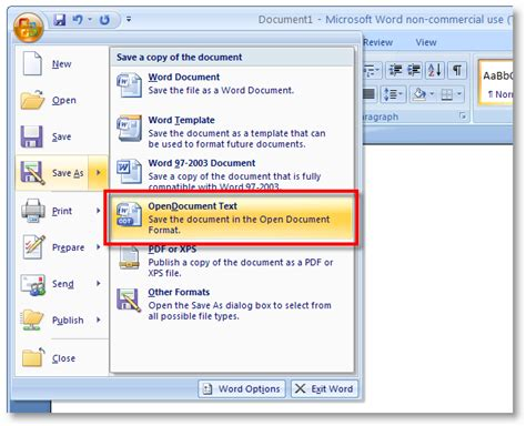 Word Office 2007 Microsoft Office 2007 Service Pack 2